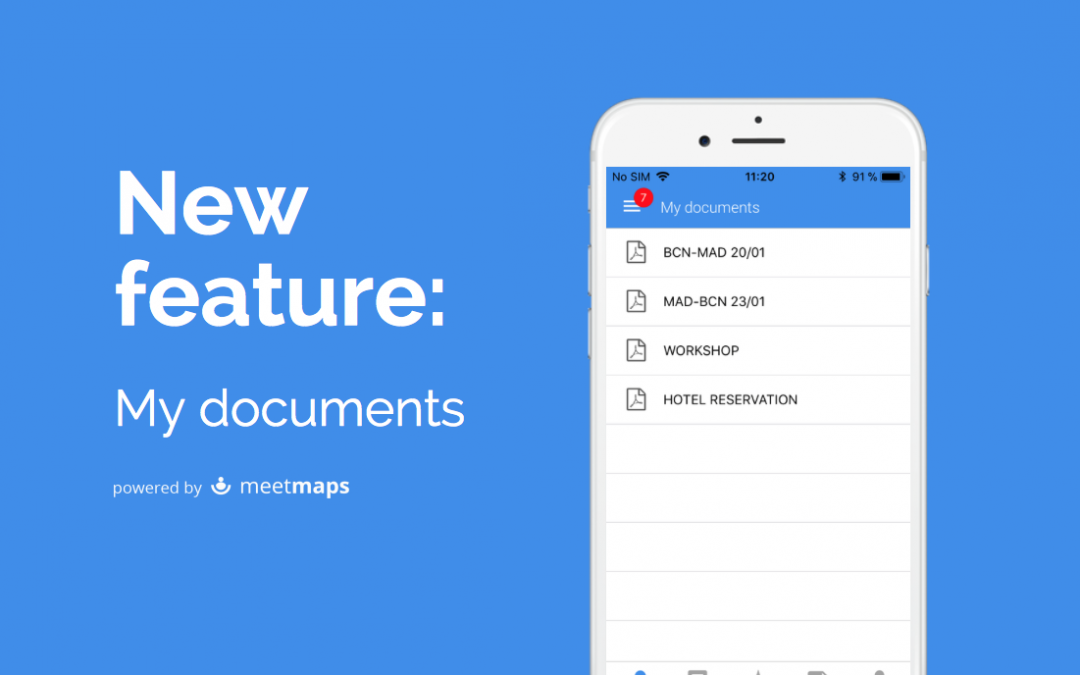 My documents, the newest feature of the Meetmaps' App