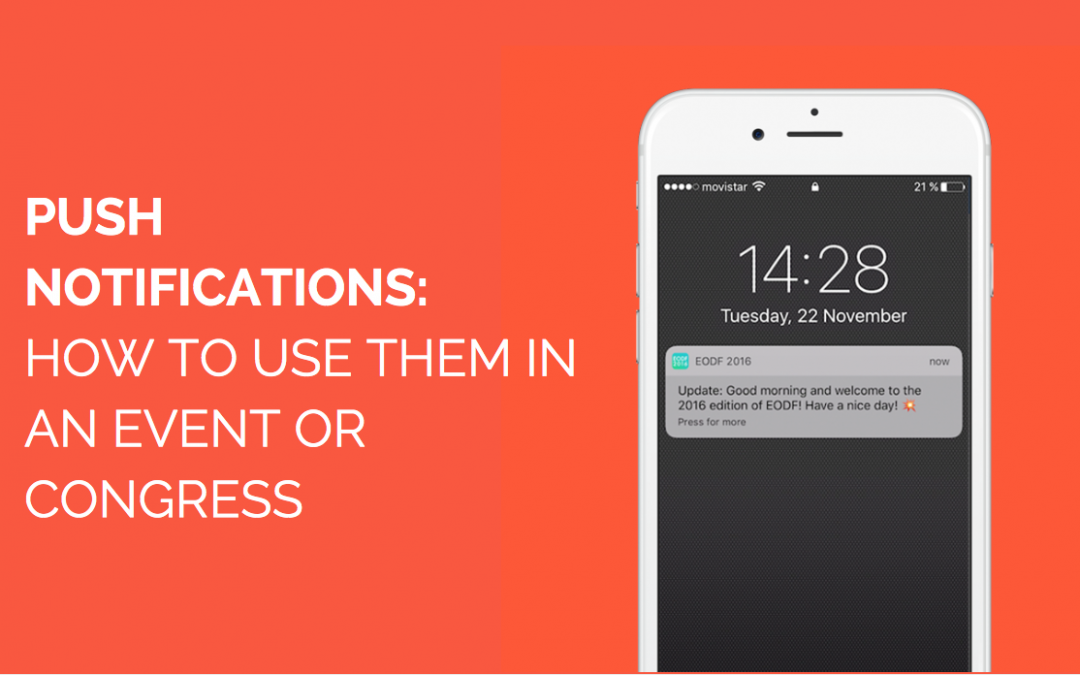 How to use push notifications in an event or congress