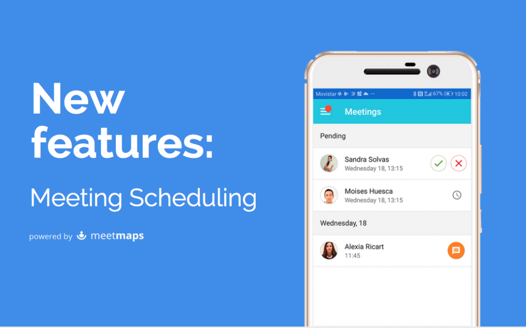 Schedule meetings with your event App