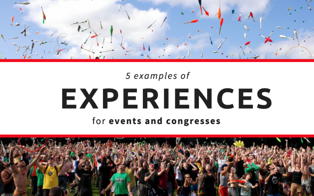 5 examples of experiences for events and congresses