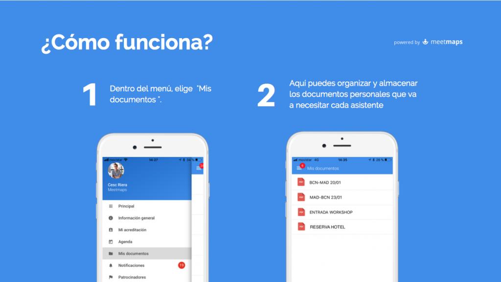 Cómo funciona Mis Documentos, la nueva funcionalidad de la App de Meetmaps