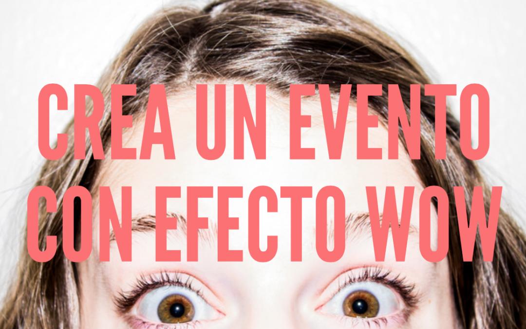 Crea un evento con efecto WOW