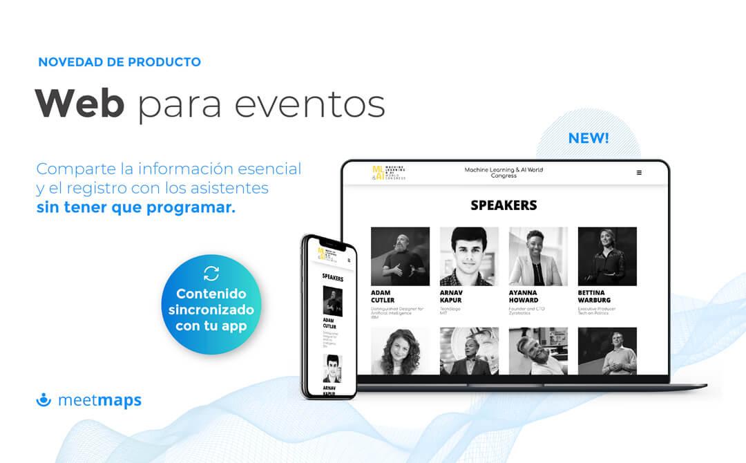 web para eventos meetmaps